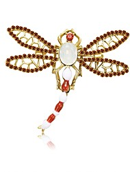 cheap -Women's Freshwater Pearl Brooches Sculpture Dragonfly Ladies Simple Cartoon Sweet Brooch Jewelry Gold For Date Beginner