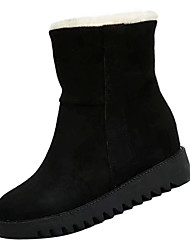 cheap -Women's Boots Snow Boots Low Heel PU Mid-Calf Boots Casual Winter Black / Camel / Yellow