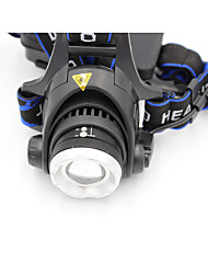 cheap -LS059 Headlamps Headlight Waterproof Rechargeable 1200 lm LED LED 1 Emitters 3 Mode with Batteries and Charger Waterproof Zoomable Rechargeable Adjustable Focus Impact Resistant Camping / Hiking