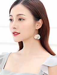 cheap -Women's Jacket Earrings Frosted Ball Ladies Simple Korean Platinum Plated Rose Gold Plated Earrings Jewelry Light Gold For Street 1 Pair