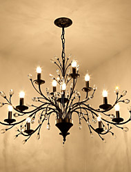 cheap -12 Bulbs 112 cm Mini Style Chandelier Metal Painted Finishes Retro / Traditional / Classic 110-120V / 220-240V