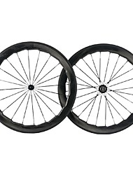 cheap -NEASTY 700CC Wheelsets Cycling 25 mm Road Bike Carbon Clincher 20-24 Spokes 60 mm