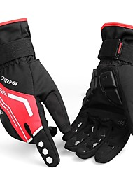 cheap -INBIKE Winter Bike Gloves / Cycling Gloves Ski Gloves Mountain Bike MTB Thermal / Warm Reflective Windproof Breathable Full Finger Gloves Sports Gloves Silicone Gel Red Green Black for Adults'