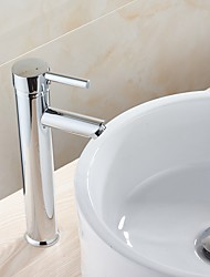 cheap -Bathroom Sink Faucet - New Design Chrome Deck Mounted Single Handle One HoleBath Taps