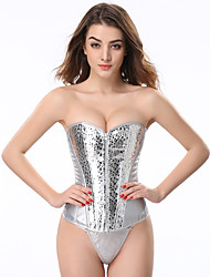 cheap -Cotton / Polyester Blend Corset Party / Evening Personalized Lace-up