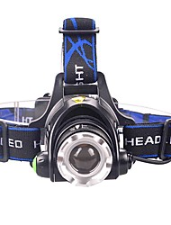 cheap -U'King Headlamps Headlight 2000 lm LED LED 1 Emitters 3 Mode with Batteries and Chargers Zoomable Adjustable Focus Compact Size Easy Carrying Camping / Hiking / Caving Everyday Use Cycling / Bike