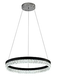 cheap -VALLKIN Circular Chandelier Ambient Light Electroplated Painted Finishes Metal Crystal, Adjustable 110-120V / 220-240V Warm White / Cold White / White