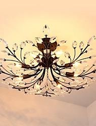 cheap -8-Light 85 cm Mini Style Flush Mount Lights Metal Crystal Painted Finishes Rustic / Lodge / Retro 110-120V / 220-240V / E12 / E14
