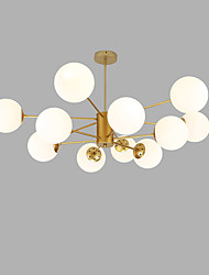 cheap -Sputnik Chandelier Ambient Light Gold Painted Finishes Metal Glass Creative 110-120V / 220-240V