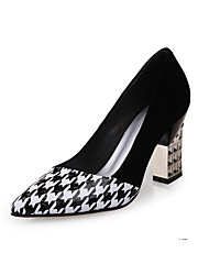 cheap -Women's Pumps Suede Spring Heels Chunky Heel Black / Daily