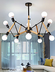 cheap -10-Light 105 cm Mini Style Chandelier Metal Mini Painted Finishes / Wood Artistic / Traditional / Classic 110-120V / 220-240V