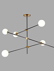 cheap -6-Light 100 cm Creative Chandelier Metal Glass Sputnik Gold / Painted Finishes Contemporary / Artistic 110-120V / 220-240V