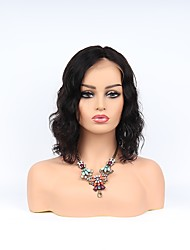 cheap -Remy Human Hair Full Lace Lace Front Wig Asymmetrical style Brazilian Hair Wavy Body Wave Natural Black Wig 130% 150% 180% Density with Baby Hair Women Easy dressing Best Quality Hot Sale Women's
