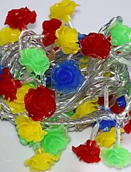 cheap -10m String Lights 52 LEDs 1 set Change Decorative 220-240 V