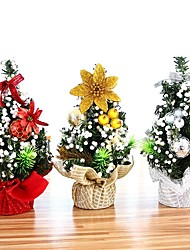 cheap -20cm Mini Christmas Tree Xmas Artificial Tabletop Decorations Festival Miniature Tree