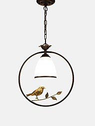 cheap -Circular / Novelty Pendant Light Ambient Light Painted Finishes Metal Glass Cute, New Design 110-120V / 220-240V