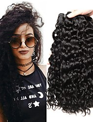 cheap -4 Bundles Hair Weaves Malaysian Hair Water Wave Human Hair Extensions Remy Human Hair 100% Remy Hair Weave Bundles 400 g Natural Color Hair Weaves / Hair Bulk Human Hair Extensions 8-28 inch Natural