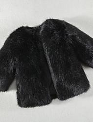 abordables -Enfants Garçon Actif Couleur Pleine Manches Longues Court Coton Veste & Manteau Noir