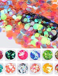 cheap -PVC(PolyVinyl Chloride) Glitter Powder Sequins For Finger Nail Toe Nail Eco-friendly / High Transparency / Slim design Romantic Series Cartoon Series nail art Manicure Pedicure Sweet / French Daily