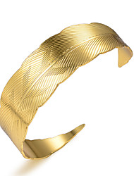 cheap -Women's Bracelet Bangles Cuff Bracelet Classic Ladies Luxury Ethnic Gold Plated Bracelet Jewelry Yellow For Party Gift