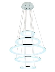 cheap -VALLKIN 5-Light Circular Chandelier Ambient Light Electroplated Painted Finishes Metal Acrylic Crystal, Adjustable 110-120V / 220-240V Warm White / Cold White / White LED Light Source Included / FCC