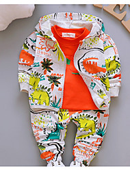 cheap -Baby Boys' Basic Daily Print Long Sleeve Regular Cotton Clothing Set Green / Toddler