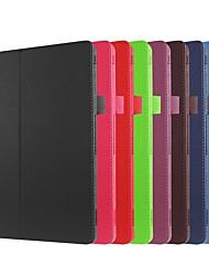 Недорогие -Кейс для Назначение Asus ASUS ZenPad 10 Z301ML / ASUS ZenPad 10 Z301MFL / ASUS ZenPad 10 Z301MF со стендом / Флип Чехол Однотонный Твердый Кожа PU