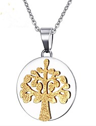 cheap -Men's Gold Pendant Necklace Classic Tree of Life life Tree Fashion Steel Stainless Silver 50 cm Necklace Jewelry 1pc For Party Daily