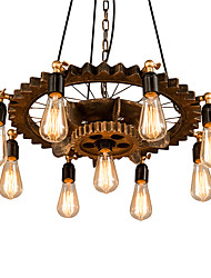 cheap -9-Light 60 cm Chandelier Metal Industrial Painted Finishes Antique / Vintage 110-120V / 220-240V