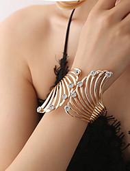 cheap -Women's Cubic Zirconia Cuff Bracelet Retro Wings Ladies Trendy Fashion Elegant Rhinestone Bracelet Jewelry Gold For Ceremony Evening Party