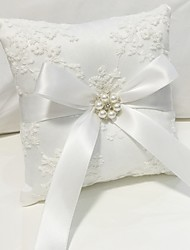 cheap -Nylon Faux Pearl / Lace Lace Ring Pillow Pillow / Wedding All Seasons