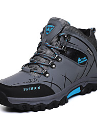 cheap -Men's Comfort Shoes Leather Winter Sporty / Casual Athletic Shoes Walking Shoes Warm Black / Army Green / Gray / Non-slipping / Wear Proof