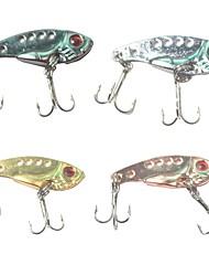 Недорогие -5 pcs Металлическая наживка Рыболовная приманка Жесткая наживка Простая установка Легко для того чтобы снести Легкий вес Тонущие Bass Форель щука Морское рыболовство Ловля на приманку Спиннинг