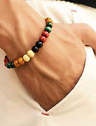 cheap -Men's Bead Bracelet Beads Chakra Stylish Simple Casual / Sporty equilibrio Wooden Bracelet Jewelry Rainbow For Street Daily Going out