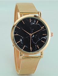 cheap -Couple's Wrist Watch Quartz Black / Silver / Gold Casual Watch Analog Fashion - Black Silver Rose Gold
