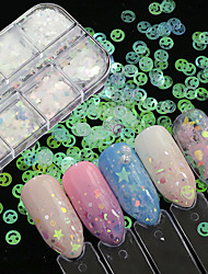 cheap -12 pcs Best Quality Eco-friendly Material Sequins For Creative nail art Manicure Pedicure Festival Fashion