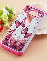 cheap -Case For Motorola Moto Z3 Play / MOTO G6 / Moto G6 Play Rhinestone / Pattern Back Cover Butterfly Hard PU Leather