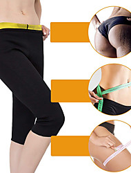 cheap -Slimming Pants Capris Leggings Neoprene Stretchy Hot Sweat Weight Loss Fat Burner Gym Tummy Yoga Fitness Gym Workout For Men Women Leg Abdomen