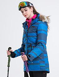 cheap -Women's Ski Jacket Skiing Snowboarding Winter Sports Thermal / Warm Waterproof Windproof POLY Winter Jacket Ski Wear