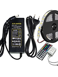 cheap -ZIQIAO 5M SMD5050 RGB Led Strip 60led/m DC12V 300leds & 44Key RGB LED Controller & 12V 5A 60W Power Adapter