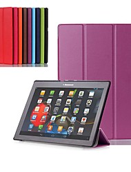 cheap -Case For Lenovo Lenovo Tab 2 A10-30F / L (TB2-X30) Shockproof / with Stand / Ultra-thin Full Body Cases Solid Colored Hard PU Leather