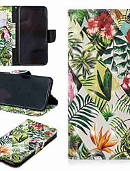 cheap -Case For Apple iPhone XS / iPhone XR / iPhone XS Max Wallet / Card Holder / with Stand Full Body Cases Plants / Tree Hard PU Leather