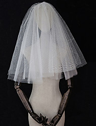 cheap -Four-tier Vintage Style / Vintage Inspired Wedding Veil Elbow Veils with Solid Tulle / Drop Veil