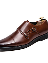 cheap -Men's Formal Shoes PU Spring / Fall Business / British Loafers & Slip-Ons Non-slipping Black / Brown