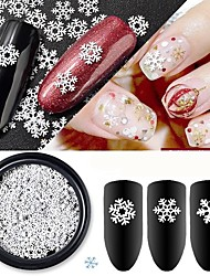 cheap -1 pcs Classic / Slim design Metal Alloy Sequins For Finger Nail White Series Holiday nail art Manicure Pedicure Christmas / Daily Basic / Natural