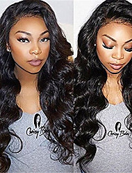 cheap -Remy Human Hair Full Lace Lace Front Wig Asymmetrical Rihanna style Brazilian Hair Afro Curly Black Wig 130% 150% 180% Density with Baby Hair Fashionable Design Life Women Natural Women's Very Long