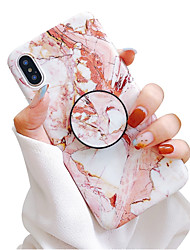 cheap -Case For Apple iPhone XS / iPhone XR / iPhone XS Max with Stand / IMD / Frosted Back Cover Marble Soft TPU