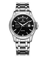cheap -Men's Wrist Watch Quartz Silver 30 m Calendar / date / day Creative Analog Luxury Fashion - White Black