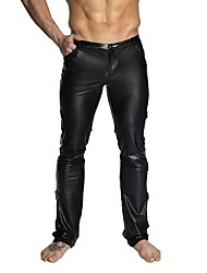 cheap -Pants Cosplay Costume Skin Suit Adults' Spandex Latex Lycra Spandex Cosplay Costumes Sex Men's Black Solid Color Christmas Halloween Carnival