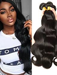Недорогие -3 Связки Перуанские волосы Естественные кудри Натуральные волосы 150 g Человека ткет Волосы Пучок волос One Pack Solution 8-28 дюймовый Нейтральный Естественный цвет Ткет человеческих волос / 8A